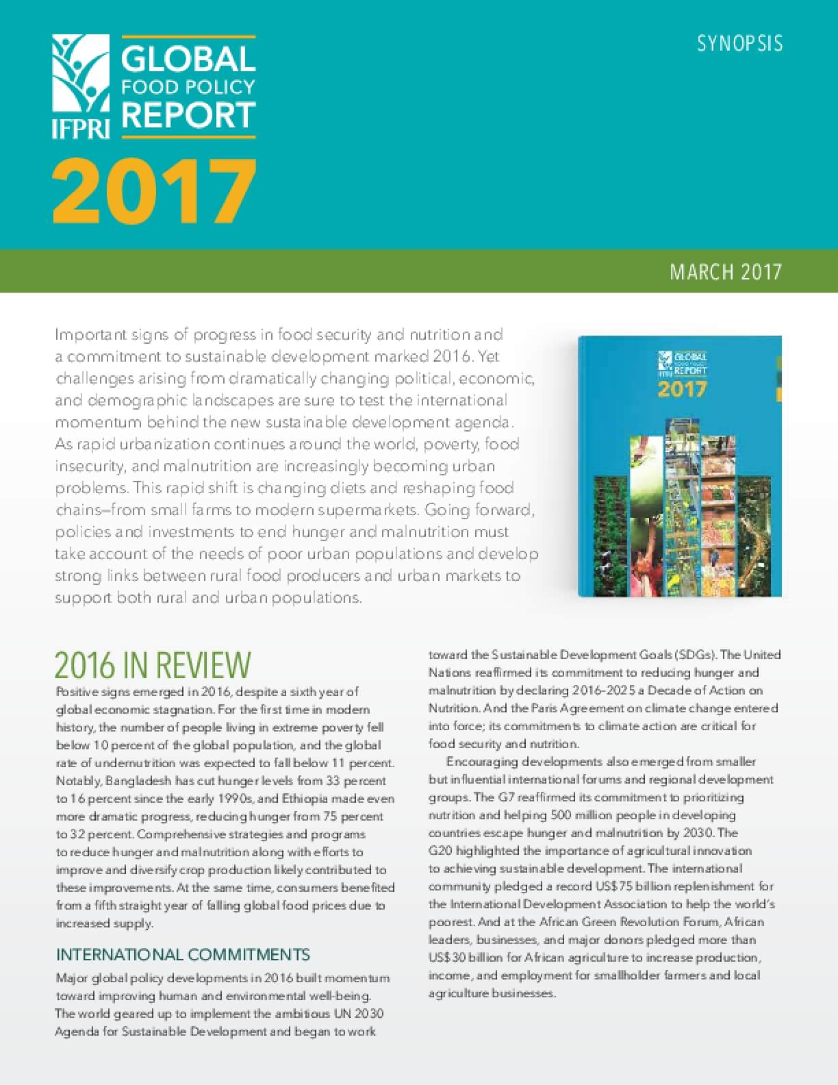 Global Food Policy Report 2017, Executive Summary