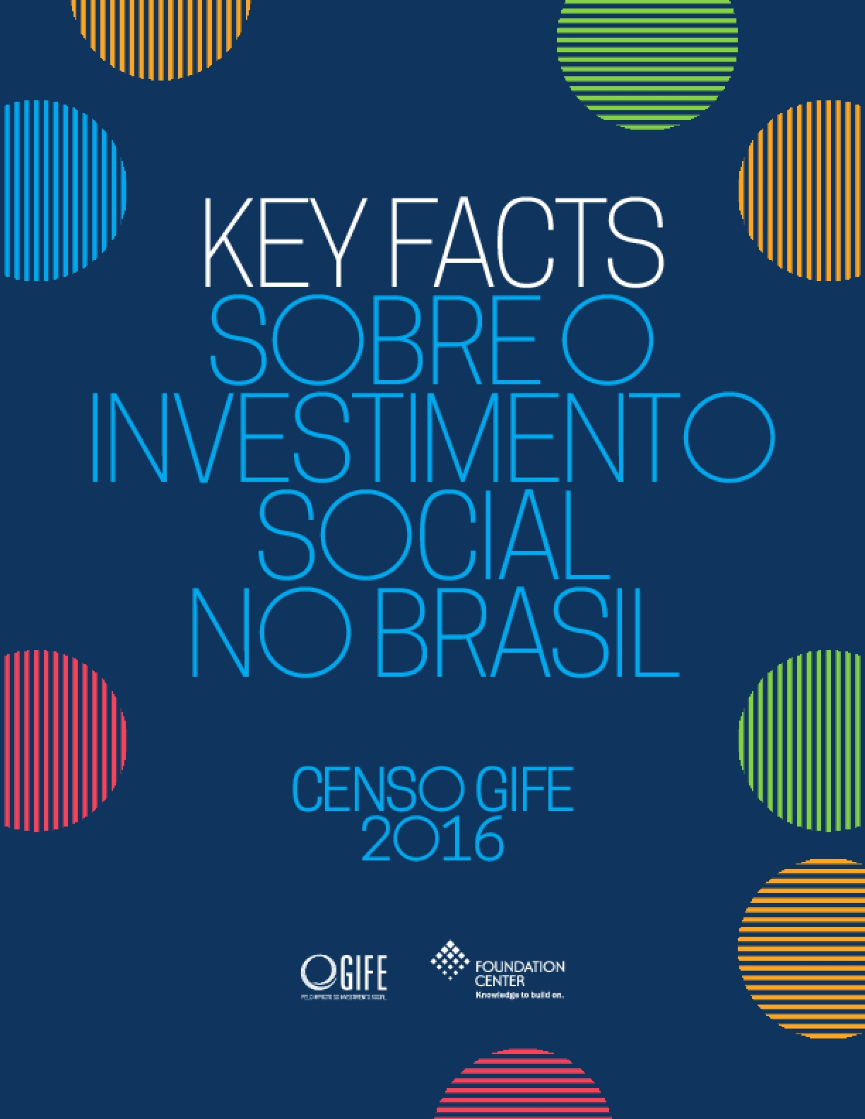 Key Facts Sobre o Investimento Social no Brasil: Censo GIFE 2016