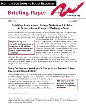 Child Care Assistance for College Students with Children: An Opportunity for Change in Washington State