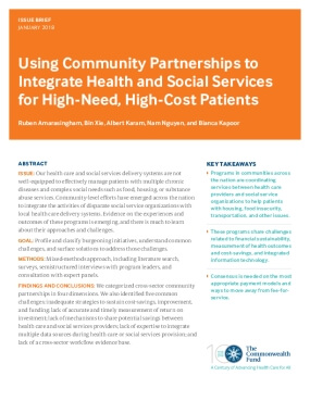 Using Community Partnerships to Integrate Health and Social Services for High-Need, High-Cost Patients
