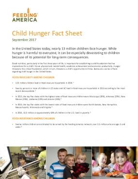 Child Hunger Fact Sheet