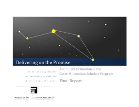 Delivering on the Promise: An Impact Evaluation of the Gates Millennium Scholars Program