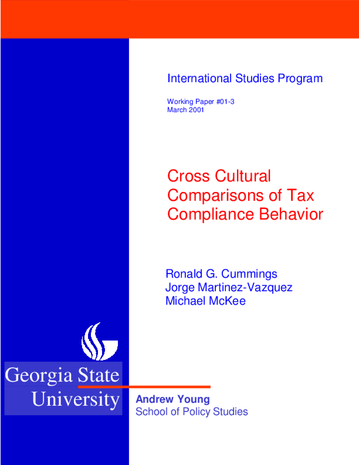 Cross Cultural Comparisions of Tax Compliance Behavior