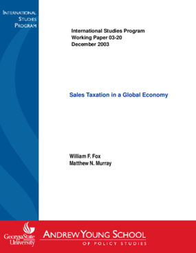 Sales Taxation in a Global Economy