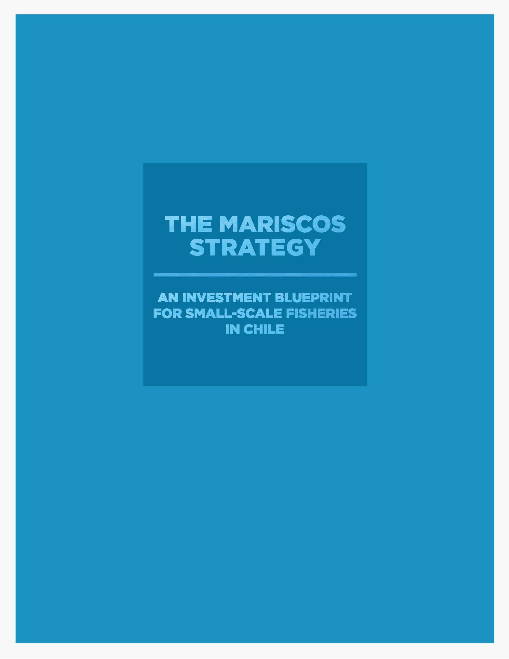 The Mariscos Strategy : An Investment Blueprint for Small-Scale Fisheries in Chile