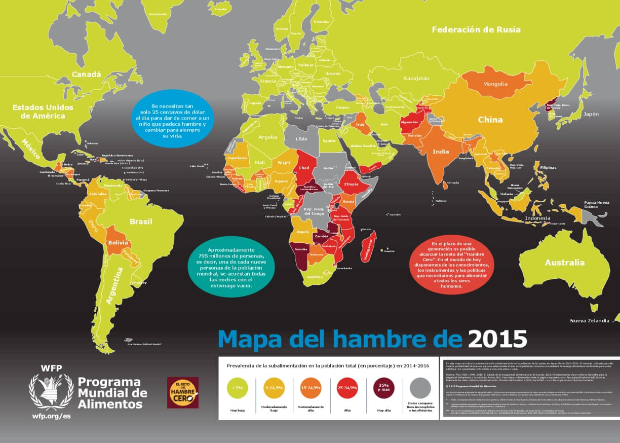 Hunger Map 2015, Spanish