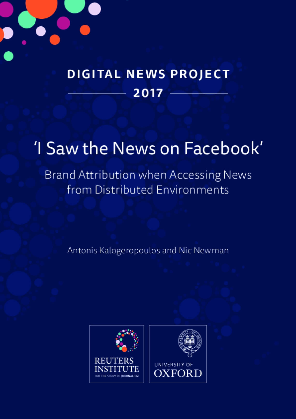 'I Saw the News on Facebook': Brand Attribution when Accessing News from Distributed Environments