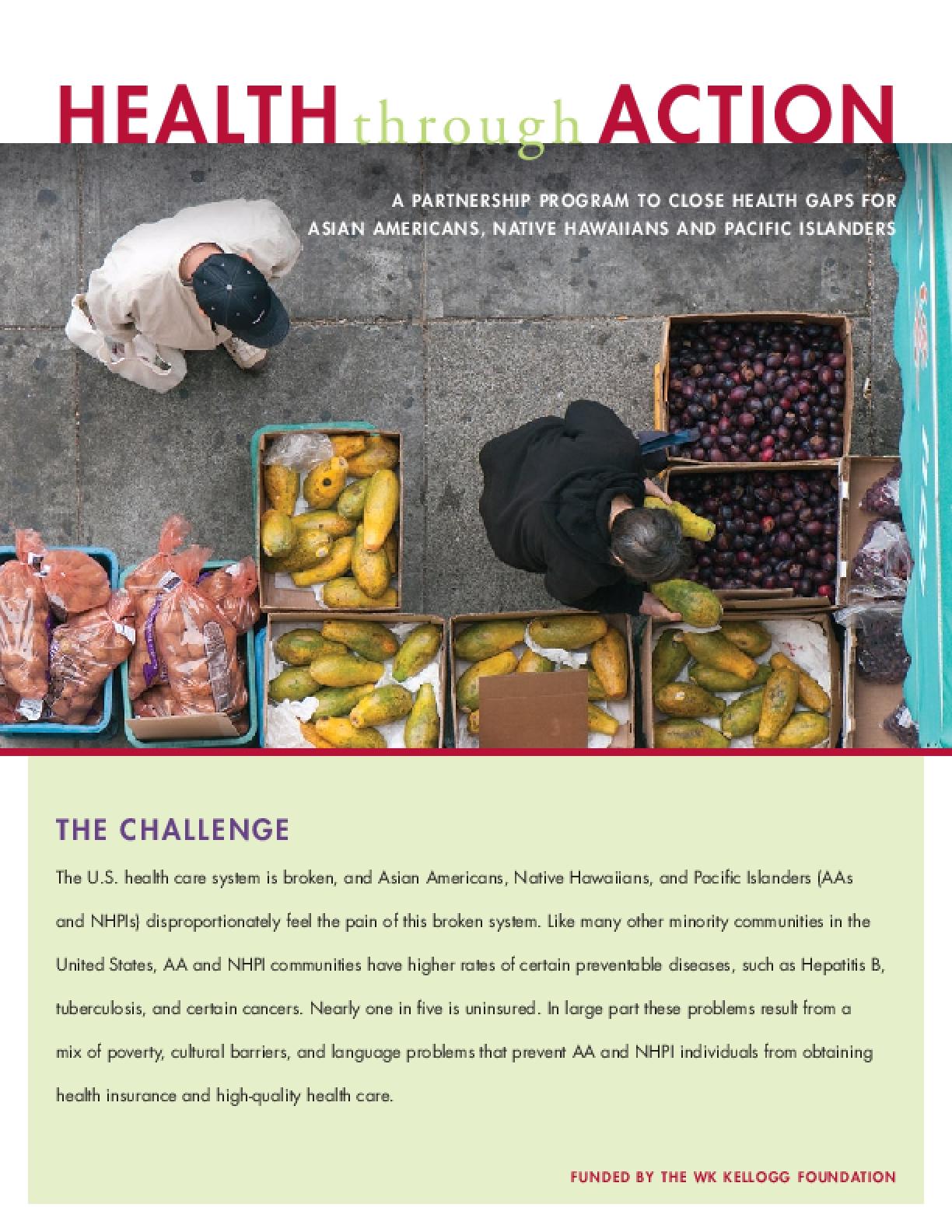 Health Through Action Partnership Program Brochure