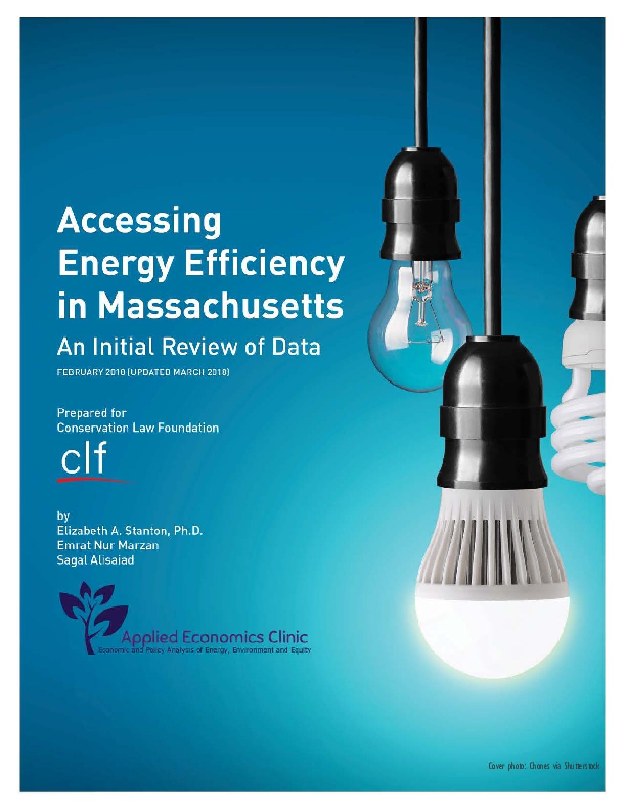 Assessing Energy Efficiency in Massachusetts