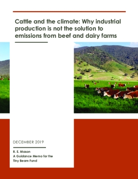 Cattle and the Climate: Why Industrial Production Is Not The Solution To Emissions From Beef And Dairy Farms