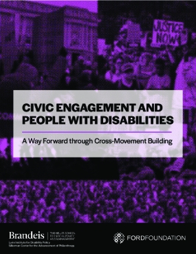 Civic Engagement and People with Disabilities: A Way Forward Through Cross-Movement Building