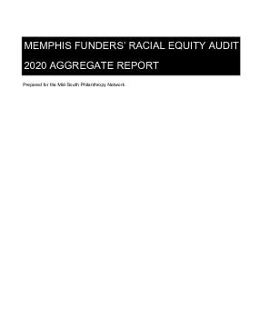 Memphis Funders' Racial Equity Audit 2020 Aggregate Report