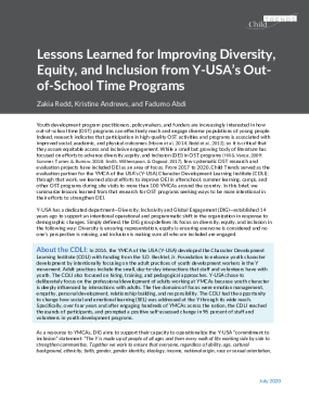 Lessons Learned for Improving Diversity, Equity, and Inclusion from Y-USA's Out-of-School Time Programs
