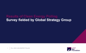 Results of Energy Polling Survey fielded by Global Strategy Group