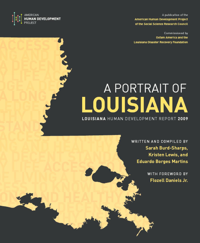 A Portrait of Louisiana: Louisiana Human Development Report 2009