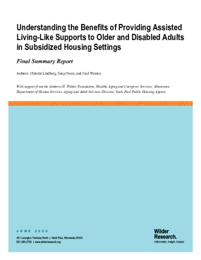 Understanding the Benefits of Providing Assisted Living-Like Supports to Older and Disabled Adults in Subsidized Housing Settings