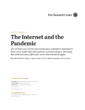 The Internet and the Pandemic