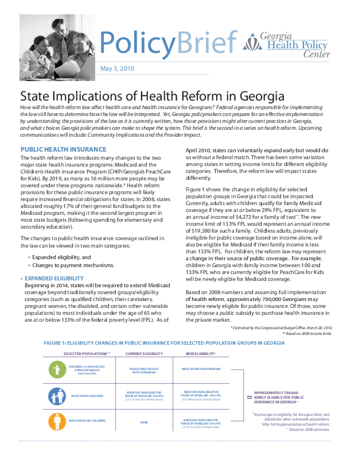 State Implications of Health Reform in Georgia