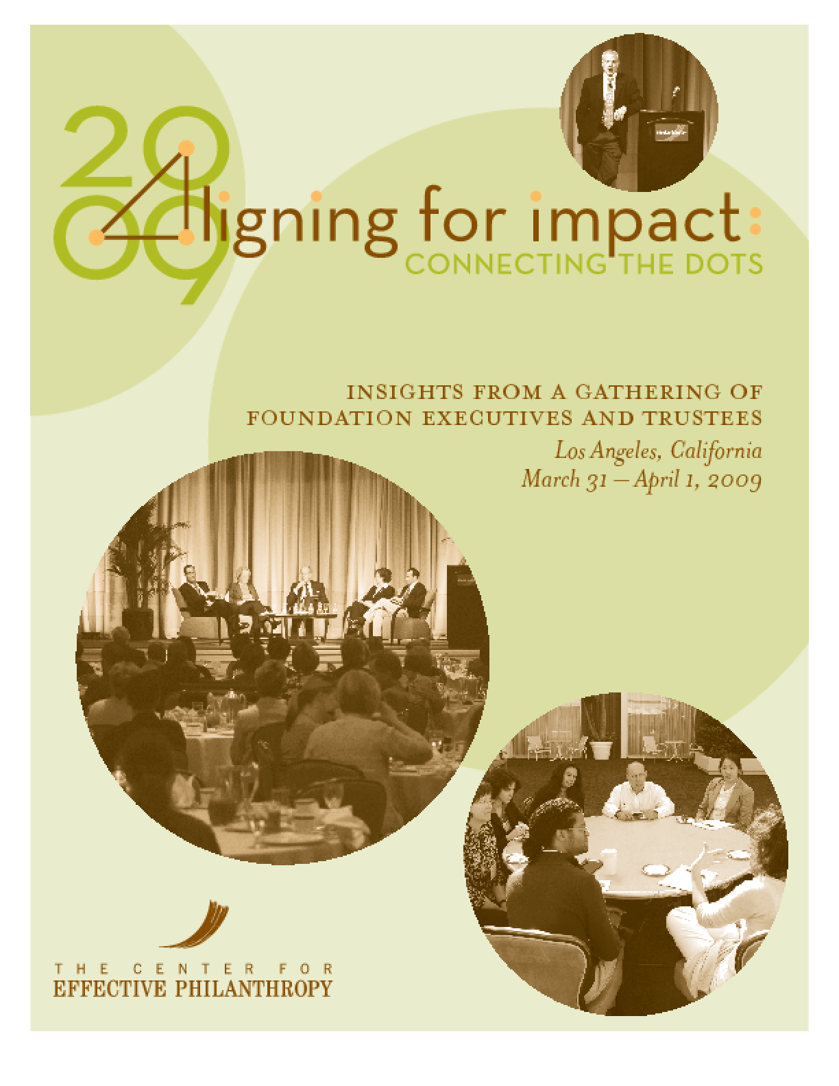 Aligning for Impact: A Report on a Gathering of Foundation CEOs, Trustees, and Senior Executives