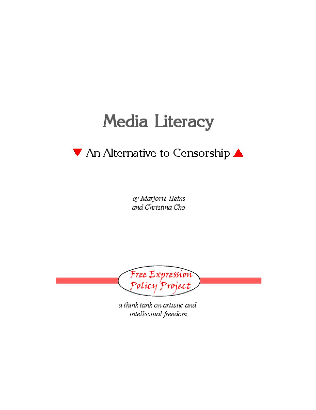 Media Literacy: An Alternative to Censorship